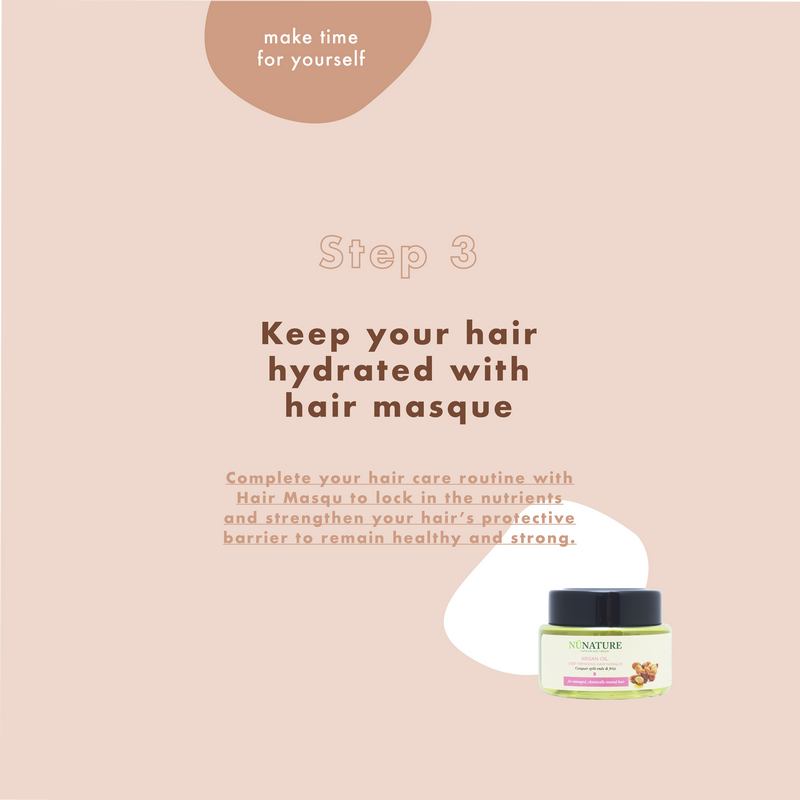 Keep your hair hydrated with hair masque